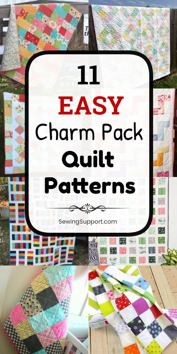 Free Quilt Patterns using Charm Packs (5 inch squares). Eleven