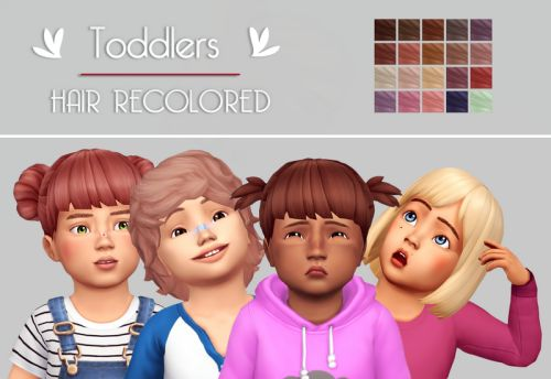 Just a simple simblr. - Toddlers  hair recolors 20 naturals and...