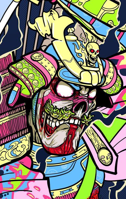 Undead Samurai - Skateboard Design by McKelly , via Behance