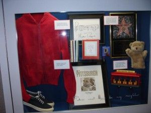 If you are ever in the Pittsburgh International Airport - go to Concourse C and check out the Mister Rogers exhibit.  Seriously.