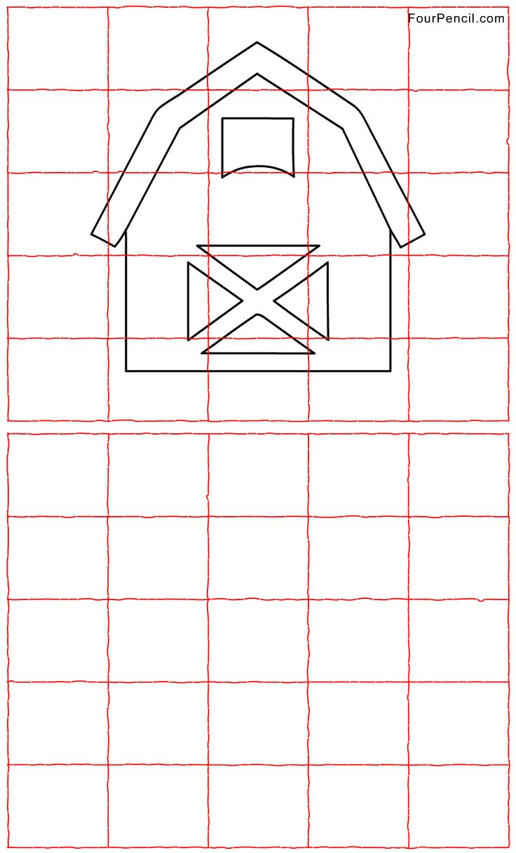 27 best chibi images on pinterest drawing ideas chibi drawing free printable barn grid line drawing worksheet for kids robcynllc Choice Image