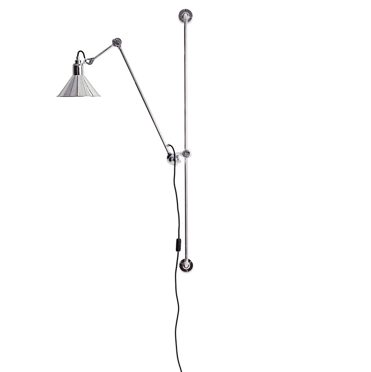 The cast steel frames are made without screws or welded joints; all parts contribute to utmost effectiveness of the whole. Bulb (not included): 40W candelabra base. Made in China.