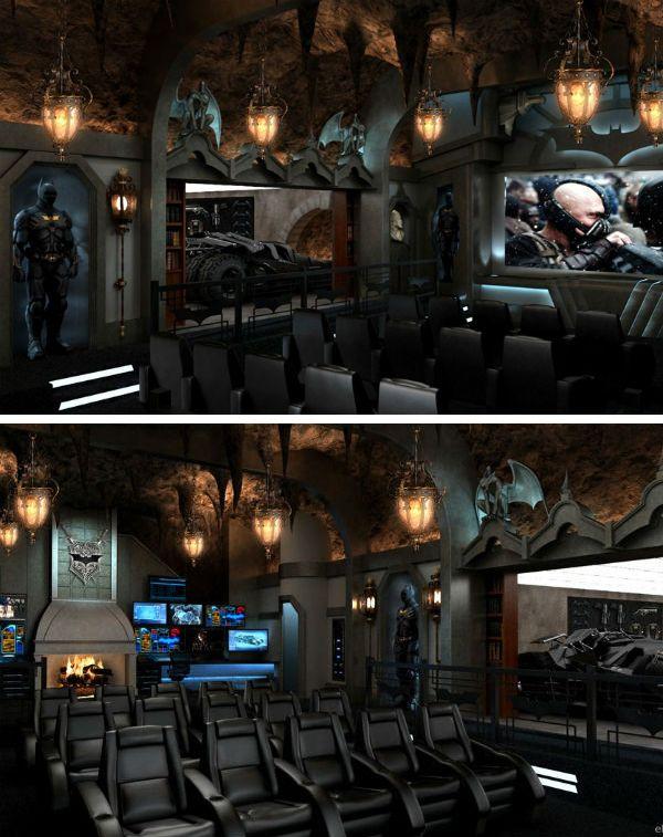 An Extraordinary 'Dark Knight' Home Movie Theater // Batman