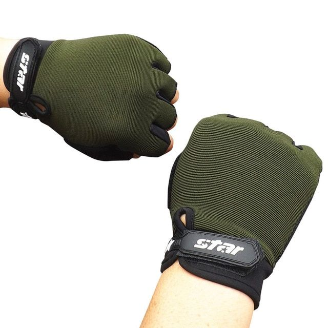 Sport Cycling Half Finger Gloves Fitness Lifting Outdoor Gloves Men Women XL Hot