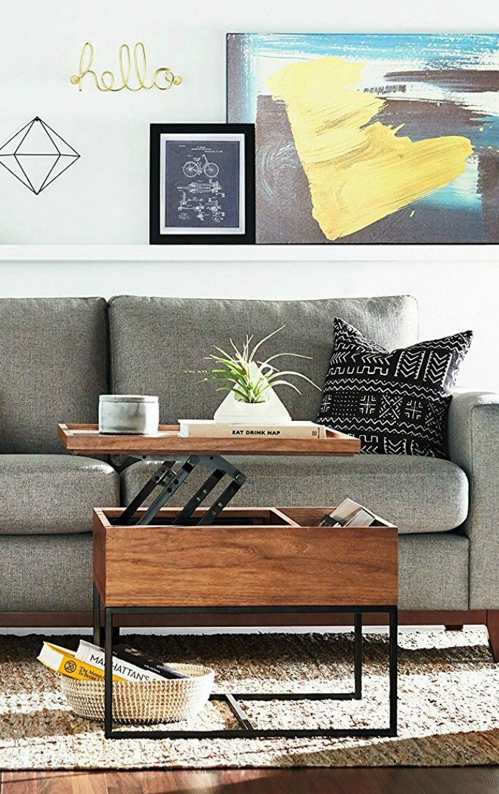 17 Trendy Coffee And Side Tables With Integrated Storage Coffee Table For Small Living Room Diy Storage Coffee Table Table Decor Living Room #side #cabinets #living #room