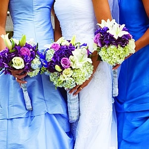 Art Light Blue Royal Wedding Palette With Purple And Green Accents