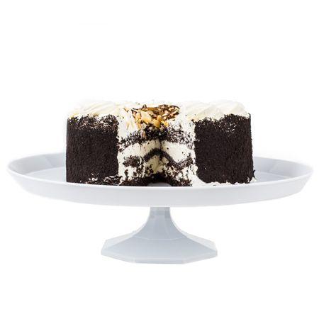 "3602WH White Plastic 13.25"" Cake Stand"