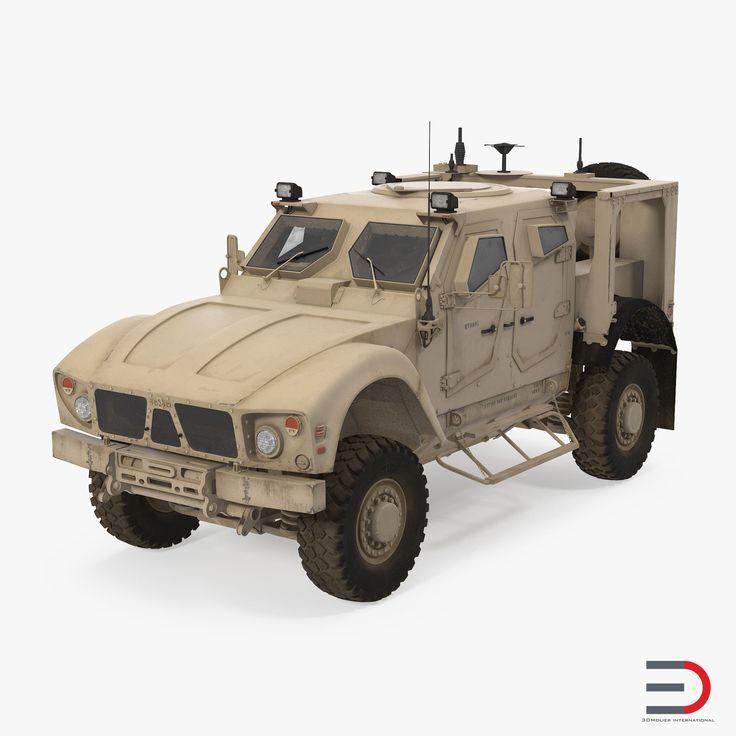 3D Oshkosh M-ATV Mine Resistant Ambush Protected Vehicle model