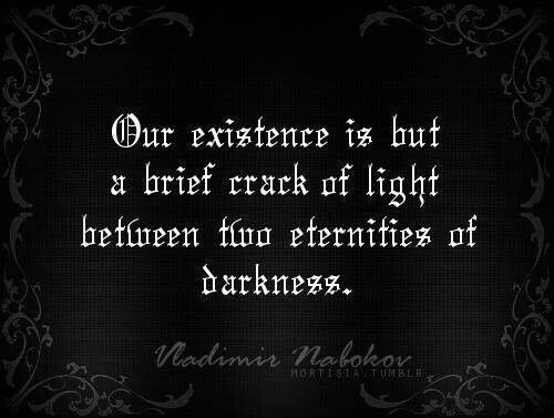 Our existence is but a brief crack of light between two eternities of darkness. - Vladimir Nabokov #quotes