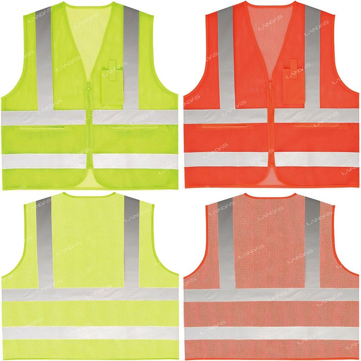 High Visibility Safety Security Guard Reflective Construction Traffic Mesh Vest #hellobincom