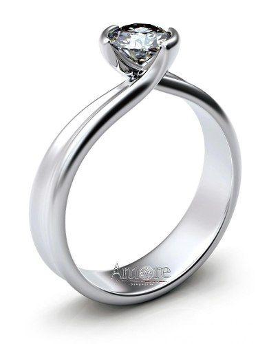 Anillos De Compromiso Diamante .20ct Vs1 G 14k Pm0 - $ 4,990.00