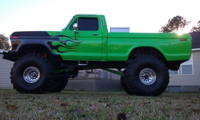 """BangShift.com 1978 Ford F-150 monster truck on 44"""" super swamper tires"""
