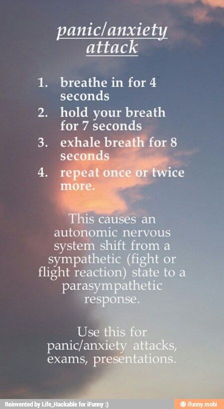 how to stop having panic attacks.