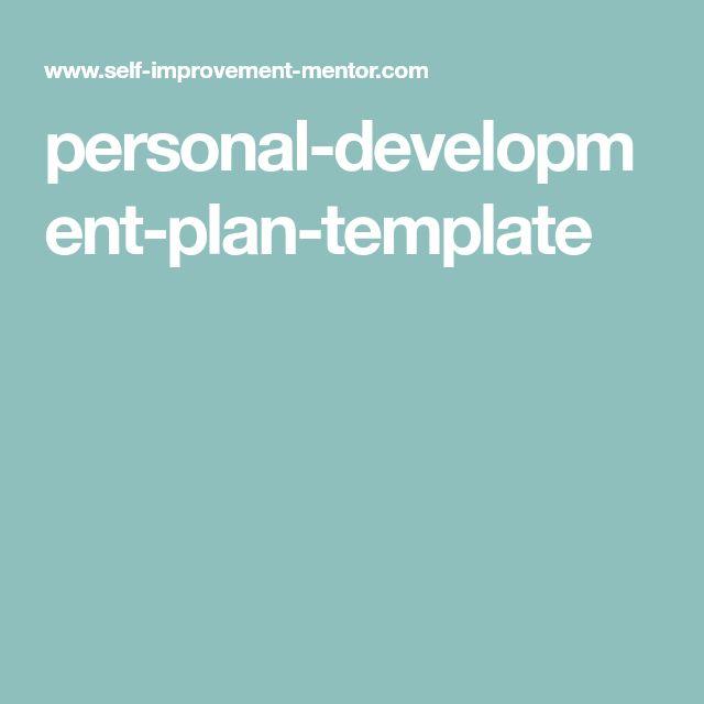 personal-development-plan-template