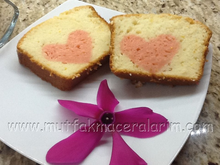 Heart cake for Valentine's day...