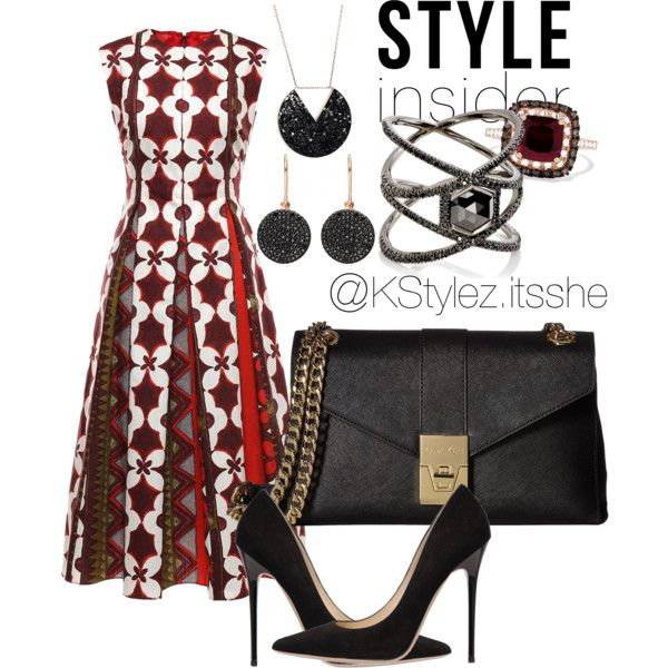 A fashion look from March 2017 featuring Valentino dresses, Jimmy Choo pumps and Calvin Klein shoulder bags. Browse and shop related looks.