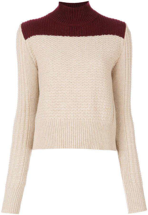 Marni bi-colour roll neck sweater