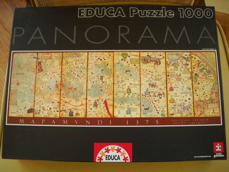 Educa Puzzle Mapa Mundi 1375 World Map 1000 pc Panorama 96x34cm | eBay ($17 total winning bid)