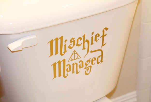 """Mischief Managed"" Toilet Decal"