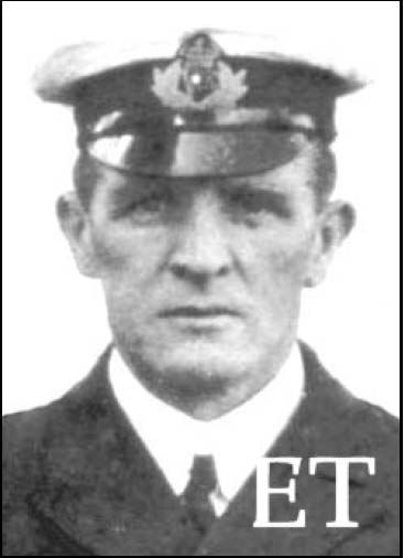 First Officer Murdoch of Titanic. He went down with the ship. (his suicide in the movie is purely fiction)