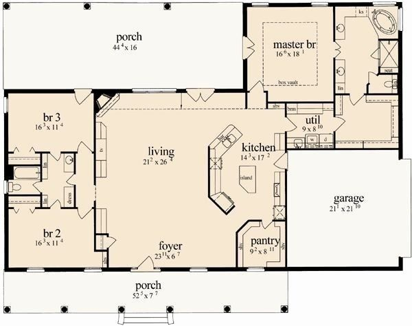 Small House Plans With Open Floor Plan Unique Small Open Concept Floor Plans Best Open House Open Floor House Plans Bathroom Floor Plans Affordable House Plans