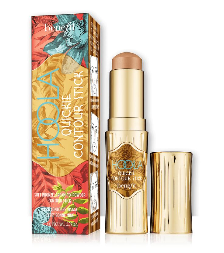 hoola quickie contour stick helps achieve a natural-looking bronze contour with a soft matte finish.