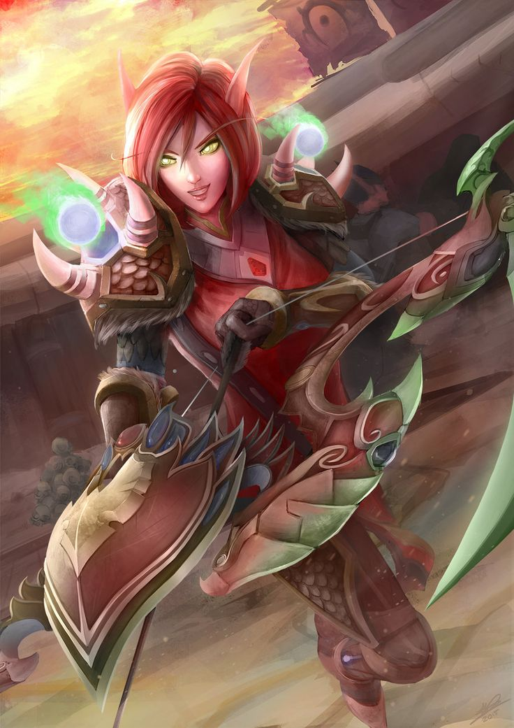 Commission: World of Warcraft Hunter Laeadra by XephrosART.deviantart.com on @DeviantArt