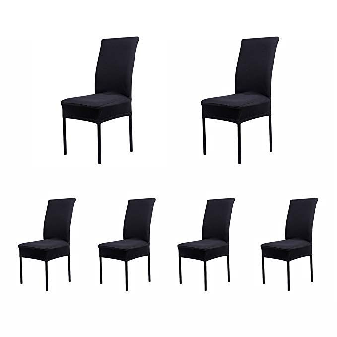 Amazon Com Soulfeel Set Of 6 X Stretchable Dining Chair Covers Spandex Chair Seat Protector Slipco Slipcovers For Chairs Dining Chairs Seat Covers For Chairs