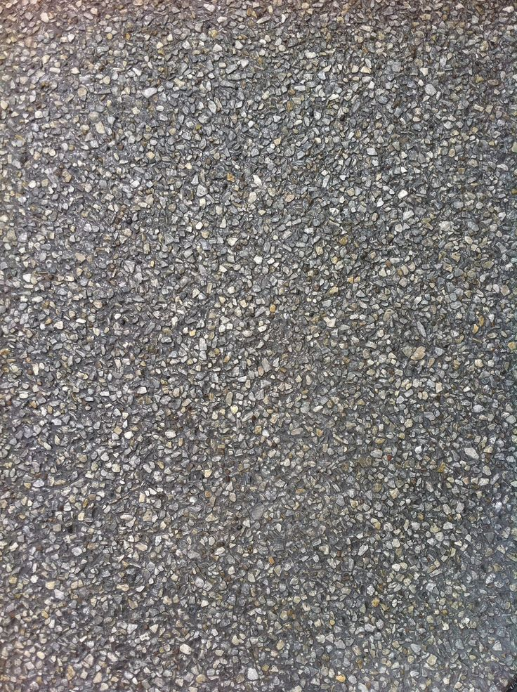 Exposed Aggregate Concrete with Grey Stone and Smoke Colour