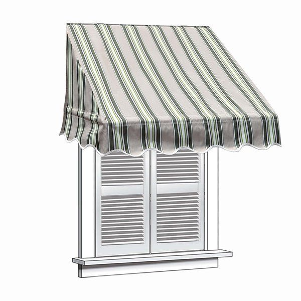 8 Ft W X 2 Ft D Fabric Retractable Standard Window Awning Window Awnings Decor Canopy Design