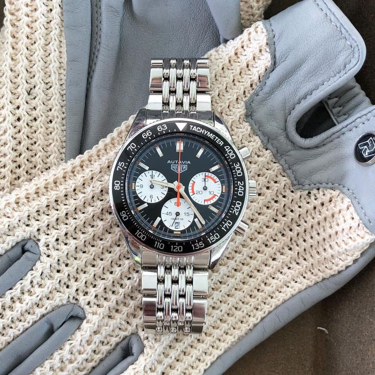The @tagheuer Autavia Calibre Heuer 02 for HODINKEE prototype is on display at the ...
