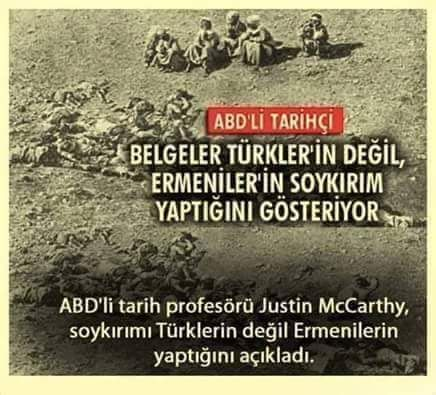 Ermeni soykırımı Emperyalist bir yalandır. Bu yalan tarihleri soykırım ile dolu olan ABD, Fransa ve Almanya'nın Yüce Türk Ulusu'na yönelik Emperyalist bir abluka projesidir.