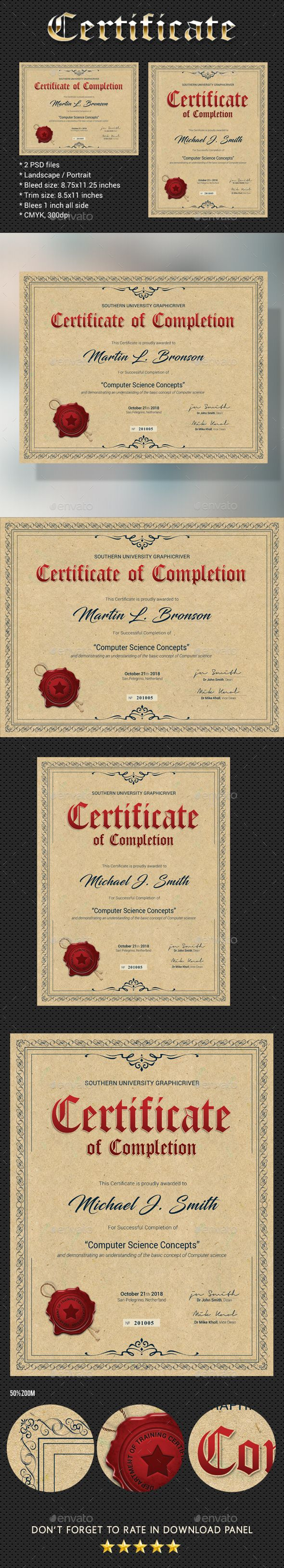 Certificate V4 #professional certificate #vector file  • Download here → https://graphicriver.net/item/certificate-v4/20500814?ref=pxcr