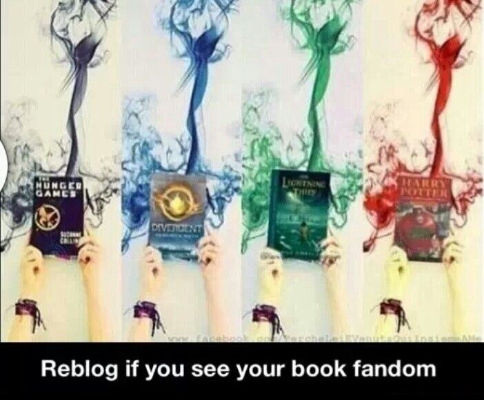 Hunger games, percy jackson, Harry potter