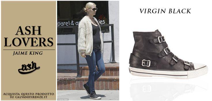 L'attrice americana #jamieking adora lo #stilesporty! Per una piacevole passeggiata abbina i #jeans alle #Virgin #Black di #Ash!
