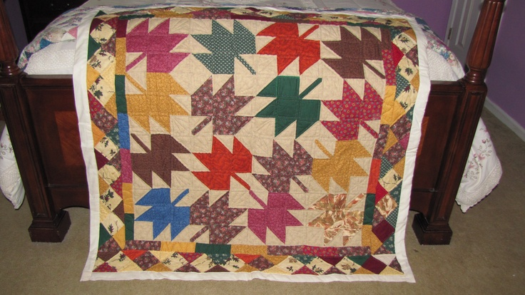 My autumn leaves quilt.