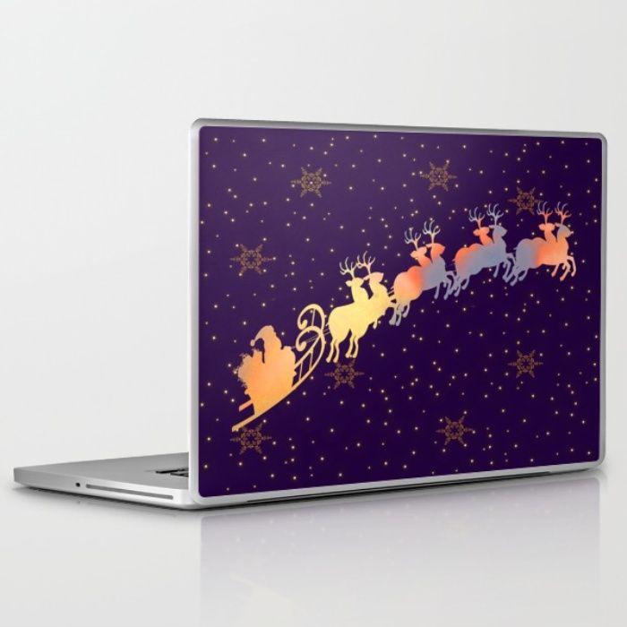 I dream of Santa Claus | Christmas Vision Laptop & iPad Skin by Azima | Society6
