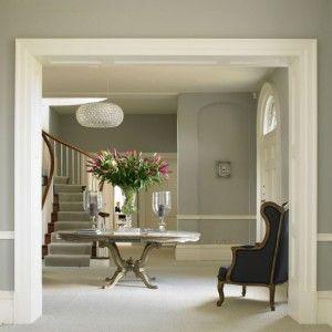 9-traditional-hallways-design-ideas-French-grey-hallway | Home Interior Design, Kitchen and Bathroom Designs, Architecture and Decorating Ideas