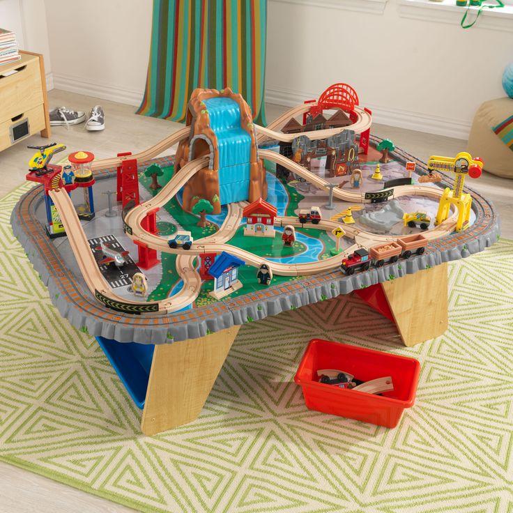 Kid Kraft Waterfall Junction Train Table u0026 Set - 17498 & 17 best Toy Trains images on Pinterest | Kid kraft Train and Trains