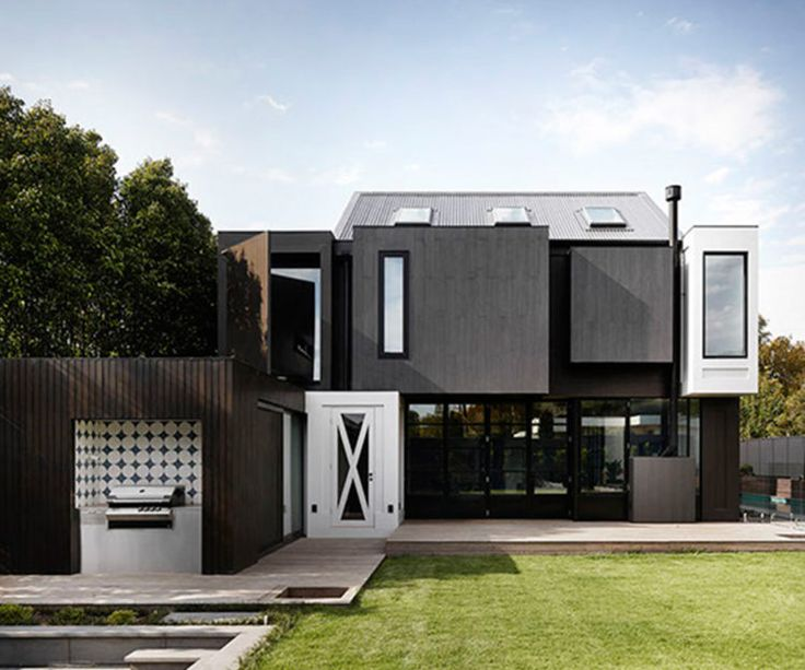 This modern extension skillfully mixes light and dark - Homes To Love