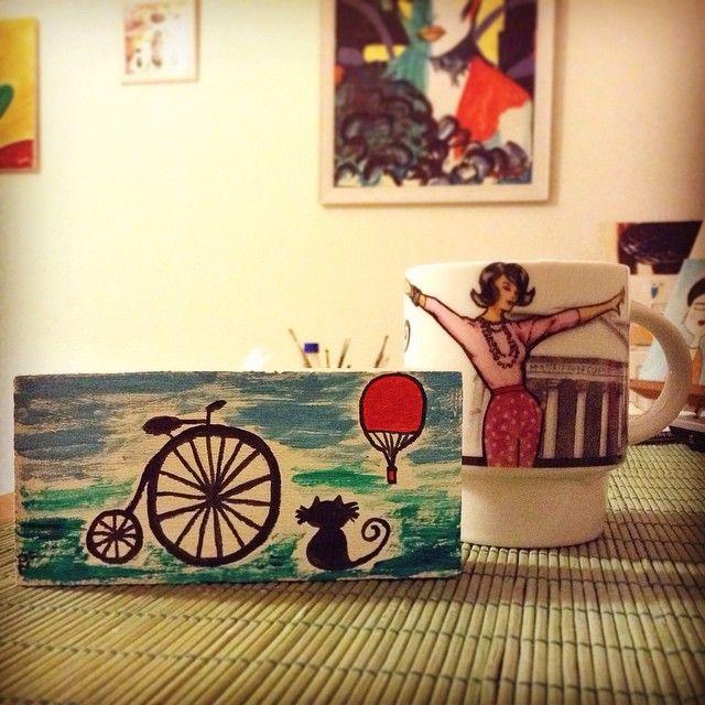 Bisiklet havaları artık 🚲☀️ tahta üzerine akrilik boya çalışılmıştır. Satın almak istedikleriniz için DM. #byme #akrilikboya #bisiklet #bike #bicycle #love #cat #kedi #balon #uçanbalon #red #home #myhome #ev #sanat #art #boyama #painting #paint #boya #colours #friday #fridaylove