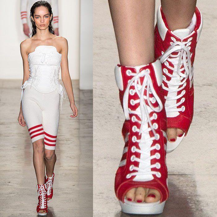 Jeremy Scott Fall 2014 thigh high sneaker boots 3