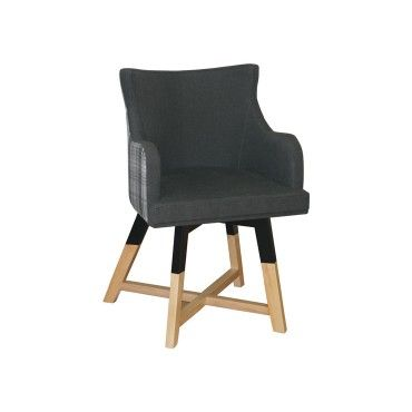 Πολυθρόνα 0288. Πολυθρόνα με ξύλινο σκελετό από φουρνιστή οξιά, σε χρώμα βαφής και χρώμα υφάσματος-δερματίνης επιλογής σας. Κατάλληλη για καφετέριες, μπαρ, ξενοδοχεία.
