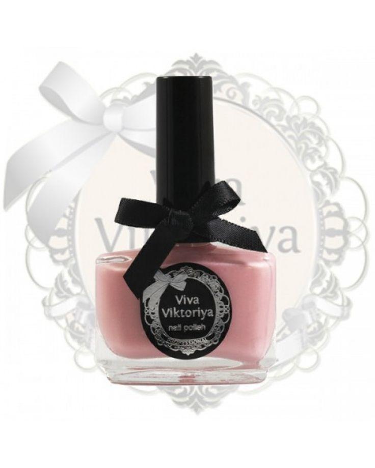 129 Бледно-розовый перламутровый оттенок. Лак для ногтей Viva Viktoriya