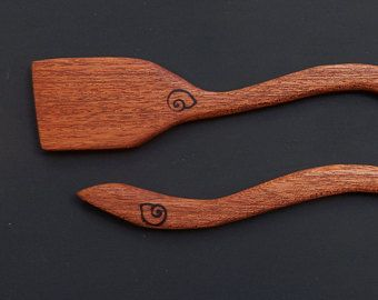 Wooden spatulas. Handmade niangon (Tarrietia utilis) wood spatulas. Kitchen utensils. Cooking tools. Gift for chef. Gift for her/ him