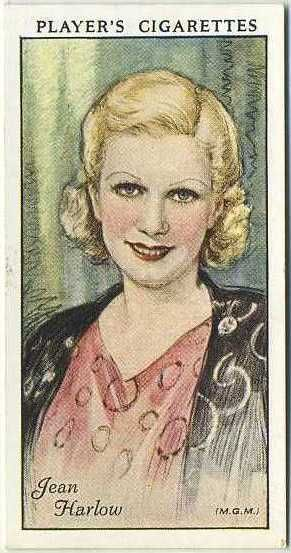 Jean Harlow ~ 1934 John Player & Sons Film Stars Tobacco Card, Series 1, #24 on Immortal Ephemera...