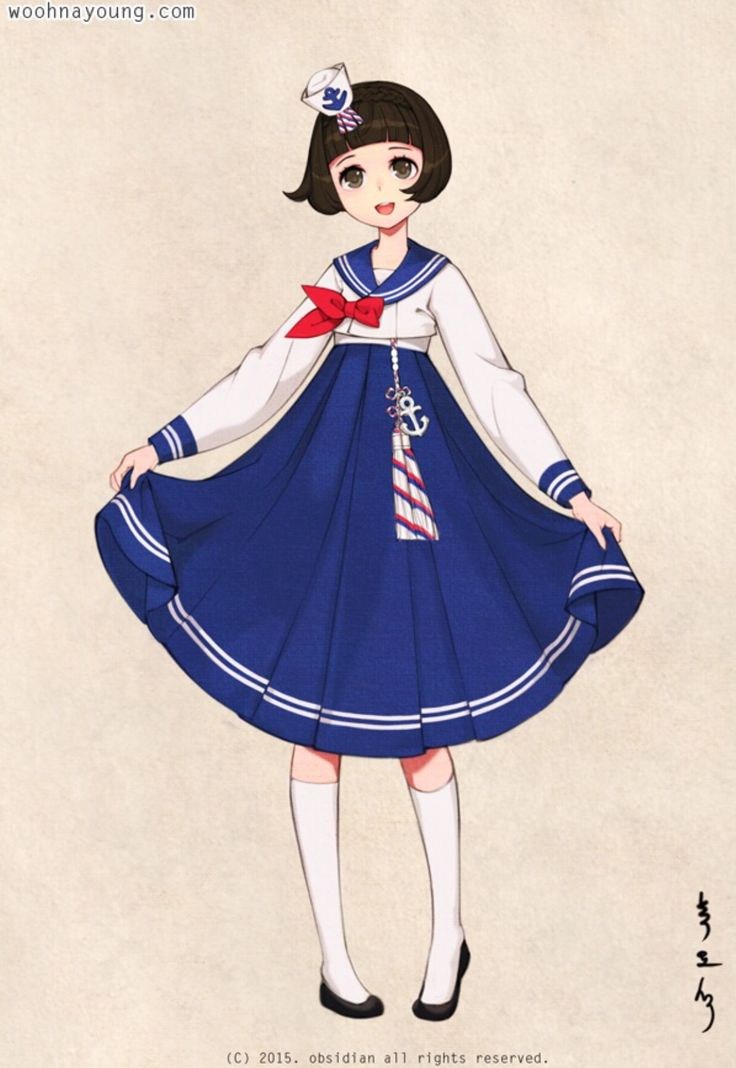 한복 HANBOK, Korean traditional clothes #hanbok |  Sailor Hanbok