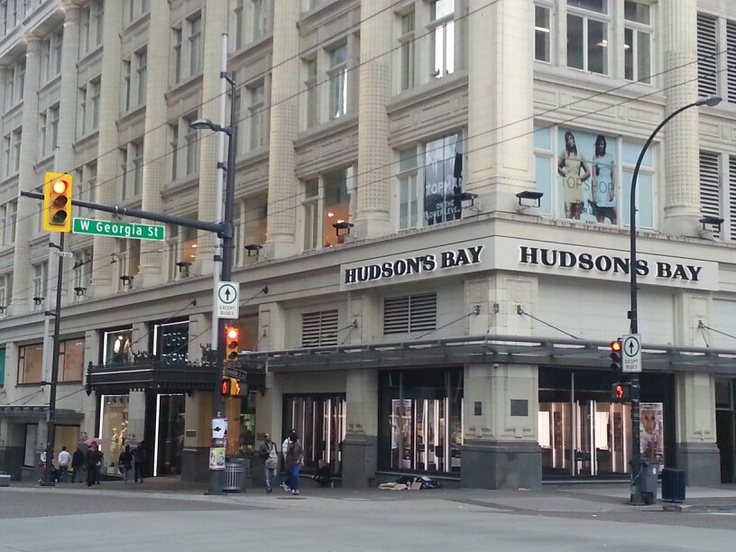 Hudson's Bay downtown Vancouver. So many hours spent waiting for the bus here watching the world go by.