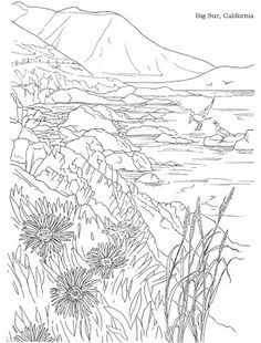 1000 images about california history on pinterest for Snowy mountain coloring page