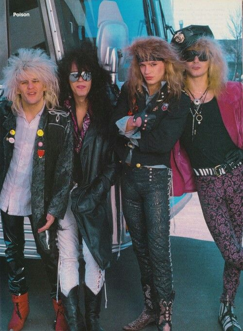 Love all the outfits the band members of Poison wore!!!